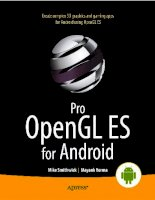 Pro OpenGL ES for android(apress   2012)