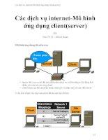 Các dịch vụ internet mô hình ứng dụng client(server)