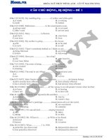 16  câu chủ động, bị động (p4)  thi online   câu chủ động, bị động 1
