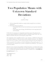 Two population means with unknown standard deviations