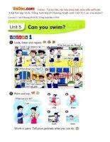 Giải bài tập SGK Tiếng Anh lớp 4 Chương trình mới Unit 5: Can you swim?