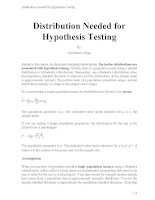 Distribution needed for hypothesis testing