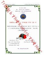 Phân tích hoạt động huy động vốn tiền gửi của ngân hàng TMCP sài gòn thương tín   chi nhánh huế