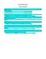 Bài tâp bài giảng ancol phenol