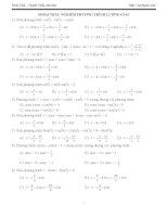 Bài tập trắc nghiệm phương trình lượng giác