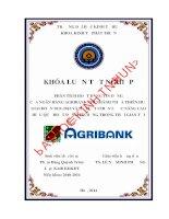 Phân tích hoạt động tín dụng của ngân hàng agribank chi nhánh thừa thiên huế giai đoạn 2011 2013 và đề xuất chiến lược nâng cao hiệu quả hoạt động tín dụng trong thời gian tới