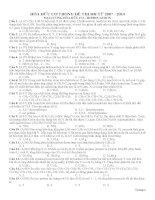 Hoa huu co 11 trong de DH CD 2007 2014