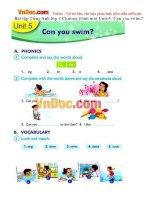 Bài tập Tiếng Anh lớp 4 Chương trình mới Unit 5: Can you swim?