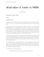 Khái niệm về audio và MIDI
