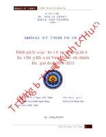 Đánh giá hiệu quả hoạt động tín dụng tài trợ XNK tai vietinbank  chi nhánh huế giai đoạn 2011 2013