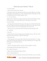 Giải bài tập trang 32 SGK Sinh lớp 7: Thủy tức