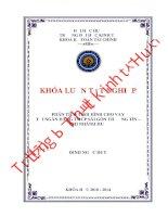 Phân tích tình hình cho vay tại ngân hàng TMCP sài gòn thương tín   chi nhánh huế