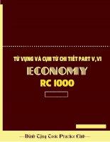 Toeic: Từ vựng và cụm từ chi tiết part V,VI (economy 2 quân  truong minh )