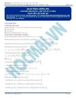 Lý thuyết và bài tập giao thoa sóng (có đáp án)