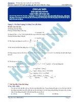 Lý thuyết và bài tập con lắc đơn (có đáp án)