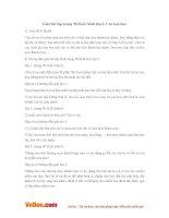 Giải bài tập trang 98 SGK Sinh lớp 6: Các loại hoa