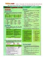 Bài tập Tiếng Anh lớp 7 Chương trình mới Unit 1, 2, 3