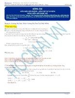 Lý thuyết và bài tập sóng âm (có đáp án)