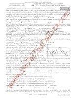 Tuyển chọn đề thi thử môn vật lý có đán án đề số 5