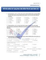 Thi online từ vựng theo chủ điểm work and jobs (2)