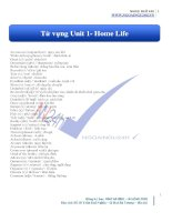 tuvung unit1 homelife