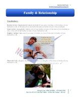 Từ vựng theo chủ điểm family relationship