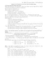 Các dạng bài tập về bảng tuần hoàn các nguyên tố hóa học (Có hướng dẫn giải) Phụ đạo bồi dưỡng