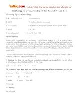 Giải bài tập SGK Tiếng Anh lớp 10: Test Yourself A (Unit 1 - 3)