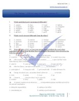 Thi online từ vựng education level b (2)