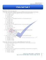 chữa bài tập unit 2