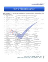 UNIT 1: THE HOME LIFE (2)