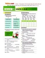 Bài tập Tiếng Anh lớp 10 Chương trình mới Unit 1, 2, 3