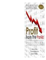 adam khoo profit from the panic