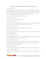Giải bài tập trang 92 SGK Sinh lớp 8: Tiêu hóa ở ruột non