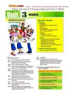 Tiếng Anh lớp 10 Chương trình mới Unit 3: Music