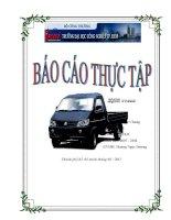 Báo cáo thực tập tốt nghiệp kỹ thuật ô tô Công ty TNHH TMDV Tổng hợp Bến Thành Savico