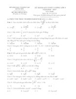 Đề thi khảo sát đầu năm môn toán 9 tỉnh hưng yên năm học 2016   2017(có đáp án)