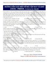 21  hướng dẫn giải một số bài tập hay và khó ancol – phenol (phần 3)