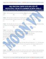 10  PP giải bài tập về phản ứng tách hiđrocacbon (phần 1)