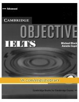 Objective IELTS advanced WB