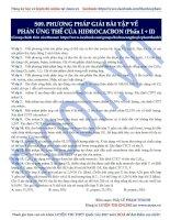09  PP giải bài tập về phản ứng thế hidrocacbon (phần 1+2)
