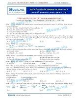 23  thi online phản ứng ở gốc hiđrocacbon
