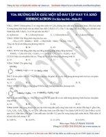 14  hướng dẫn giải một số bài tập hay và khó hiđrocacbon (p4)