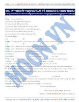 08  lý thuyết trọng tâm về HIĐROCACBON THƠM