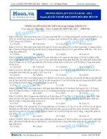 02  thi online   phương pháp lập CTPT của HCHC   đề 2