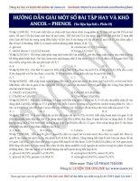 21  hướng dẫn giải một số bài tập hay và khó ancol – phenol (phần 2)