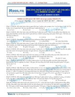 12  thi online   PP giải bài toán về oxi hóa của hidrocacbon   đề 2