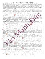 Tổng hợp đề thi thử thầy tào mạnh đức (16)