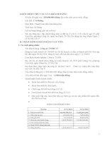 Bài giảng ngân hàng thương mại và các tình huống (4)