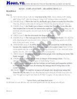 Keys explanation reading test 2 3